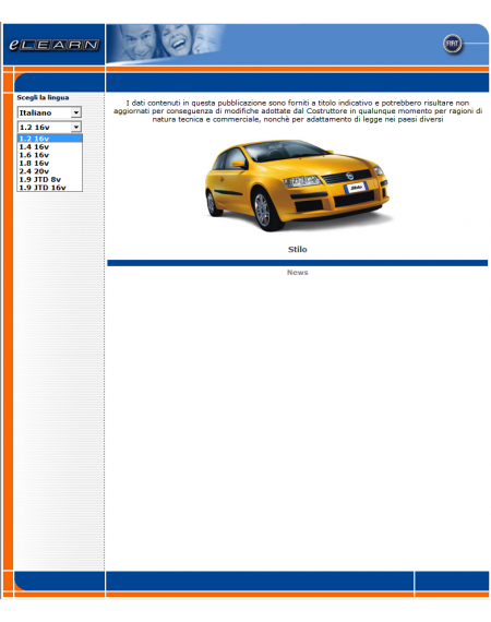E-LEARN FIAT STILO - MANUALE OFFICINA